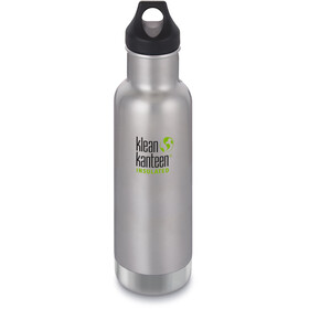 Klean Kanteen Classic Vacuum Insulated Bottle Loop Cap 592ml, brushed stainless